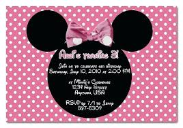 birthday invitation maker free minnie birthday invitations mouse birthday invitation wording