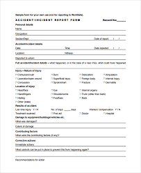 accident incident report incident report letter template accident