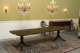 new high end solid mahogany duncan phyfe dining table seats 12