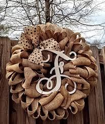 monogram wreath initial burlap wreath monogram wreath front door