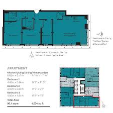 3 bed flat for sale in stratosphere tower the broadway stratford