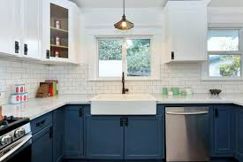 blue and white kitchen cabinets home decorating interior design
