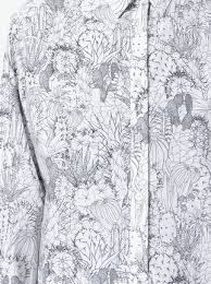 ps by paul smith cactus sketch print shirt dress farfetch