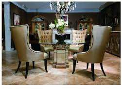 Dining Room Stylish Round Glass Table With Palm Tree Pedestal Base - Glass dining room table bases