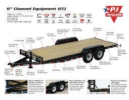 new pj c6 equipment trailer for sale
