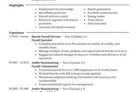 Payroll Specialist Resume Sample by Account Billing Specialist Resume Reentrycorps