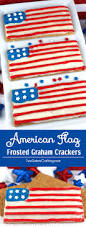 American Flag Picture American Flag Frosted Graham Crackers Two Sisters