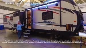 keystone outback diamond super lite 326rl youtube