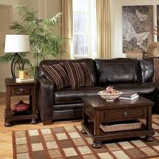 Ashley Furniture Living Room Elegant Style With Black Leather Living Room Furniture Designs