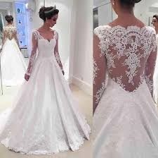 wedding dresses 2017 newest a line sleeve wedding dress 2017 lace appliques v neck