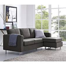 amazon com dorel living small spaces configurable sectional sofa