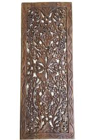 Asian Home Decorations Floral Wood Carved Wall Panel Wall Hanging Asian Home Decor