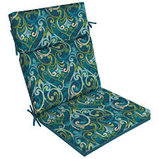 Patio Chairs With Cushions Shop Garden Treasures 1 High Back Patio Chair Cushion At