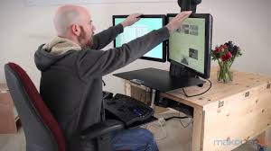 Ergotron Sit Stand Desk by Ergotron Workfit S Dual With Worksurface Youtube