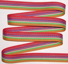 striped grosgrain ribbon blue gold striped grosgrain ribbon white green stripes 7 8