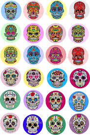 Edible Cake Decorating Paper 24 Day Of The Dead Mexican Sugar Skull Edible Cake Topper Wafer