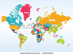 world map political with country names free country stock images royalty free images vectors