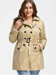 plus size light jacket plus size trench coat light khaki plus size jackets coats 2xl zaful