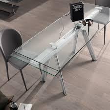 tavoli design cristallo slider 160 allungabile 240 in vetro cristallo temperato