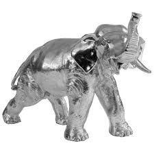 exquisite sterling silver bull elephant ornament from jago quinn