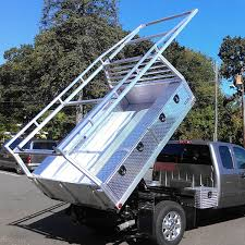 Dodge Dakota Truck Bed Size - this custom truck bed comes with a rear gate stow away panels