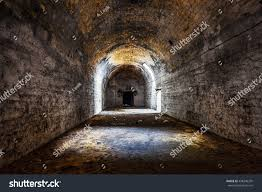 old abandoned tunnel underground wine cellar stock photo 438396235