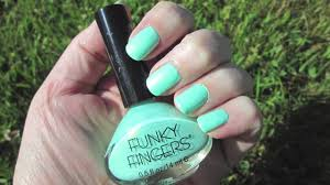 funky fingers mrs mint nail polish youtube