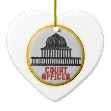 court officer ornaments keepsake ornaments zazzle
