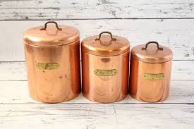copper kitchen canister sets vintage aluminum canister set flour u0026 coffee metal lidded silver