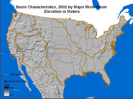 Map Of Major Rivers In The United States by Attributes For Mrb E2rf1 Catchments By Major River Basins In The