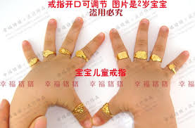 baby hand rings images 24k gold plated gold ring baby child accessories men women in jpg