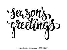 seasons greetings creative calligraphy stock vector