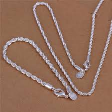 rope necklace pendant images S051 4mm high quality 925 sterling silver twisted rope chain jpg