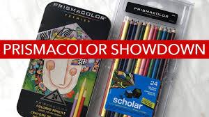 prismacolor scholar colored pencils prismacolor showdown premier vs scholar colored pencils