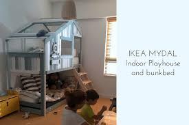 ikea bunk bed hacks make an indoor playhouse bunk bed ikea mydal hack