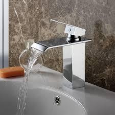 elite 8815c chrome finish water fall design single lever basin