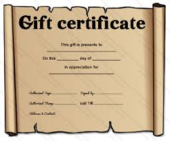 paper gift certificate template printable certificates
