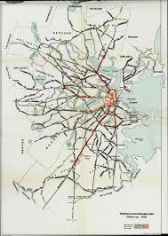 Mbta Map Boston by A Waltham Arlington Heights Line