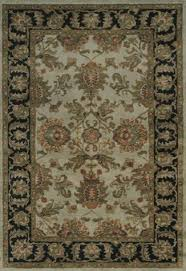 Mondrian Collection Rugs Handtufted Imperial Collection Camel Blue Traditional Oriental Rug