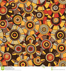 Tribal Print Wallpaper by Circular Tribal Pattern With Motifs Of African Tribes Surma And