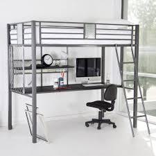 bedroom breathtaking metal bunk bed with desk underneath wood