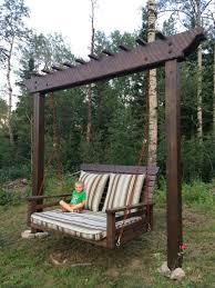 pergola swing day bed swing woodworking creation by sheri