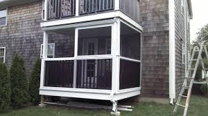 screen porch panels wood