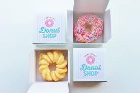 personalized donut boxes dozen donut favor boxes single donut box donut shop party