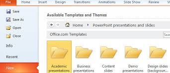 access hundreds of free ppt templates in ms powerpoint 2010