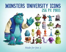 monsters university icons 256 pngs freebies icons