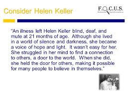 How Old Was Helen Keller When She Became Blind Character Trait Positive Attitude Based On Pages Of What Do You