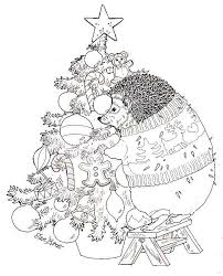 83 colouring christmas images christmas