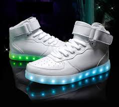 light shoes for mens led shoes mens white high top remote
