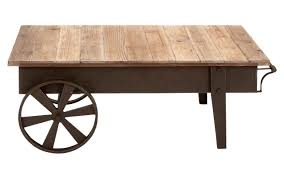 Coffee Table With Metal Base by Picture Of Wooden Coffee Table With Decorative Wheels And Metal